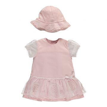 Emile et Rose stretch Jersey Dress Honey 6282pp Sizes  6/9/12/18 Months